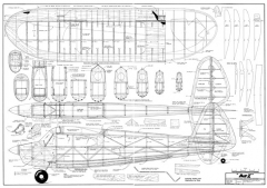 Dot I model airplane plan