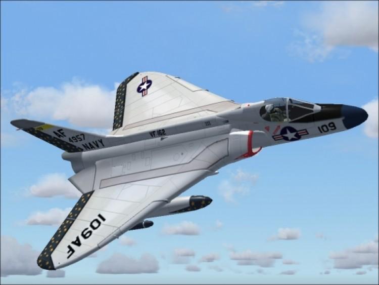 Douglas F4D Skyray model airplane plan
