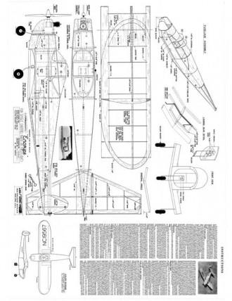 Ercoupe debolt model airplane plan