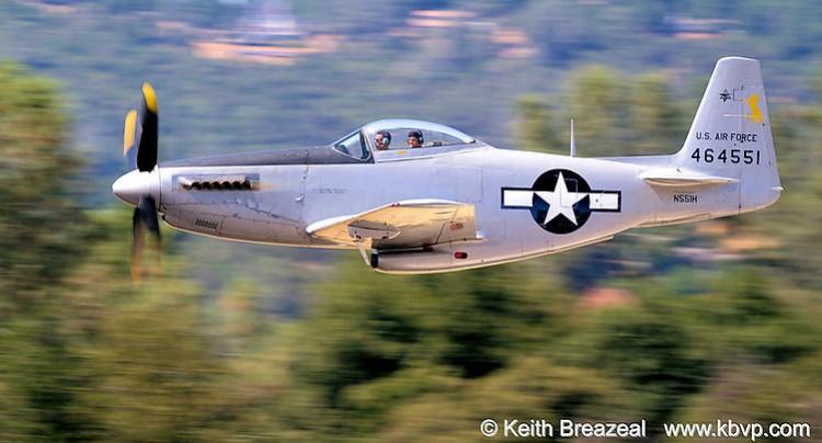 North American F-51H Mustang model airplane plan
