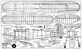 FIAT CR 42 Falco plan (with balsa leaves) model airplane plan