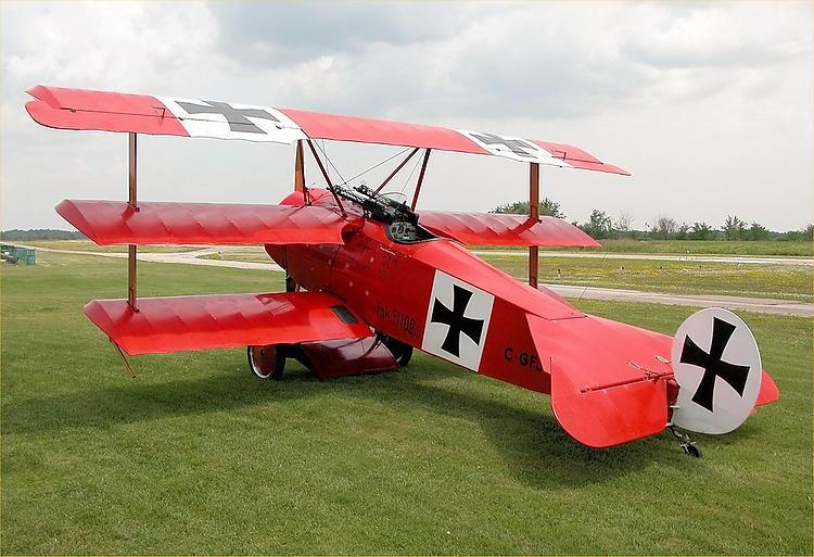 Fokker DR-1 model airplane plan