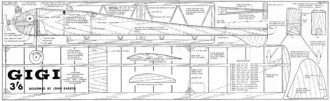 Gigi Part 1 of 2 model airplane plan