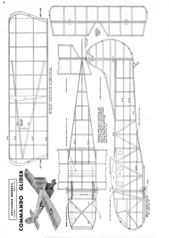 Commando Glider- Waco GC 4_WWII model airplane plan