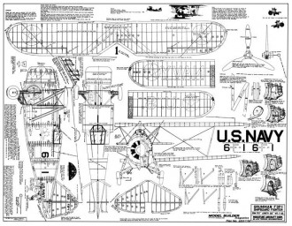 Grumman F3F 1670mm 65,7in span model airplane plan