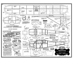 Guillows Monocoupe model airplane plan