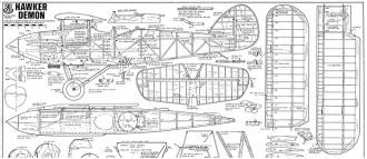 Hawker Demon 72 in model airplane plan