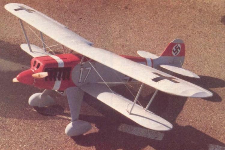 Heinkel HE-51 model airplane plan