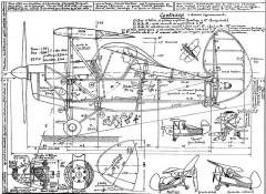 Pou du Ciel HM 290 model airplane plan