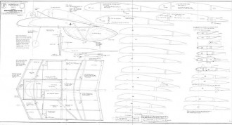 HORTEN III model airplane plan