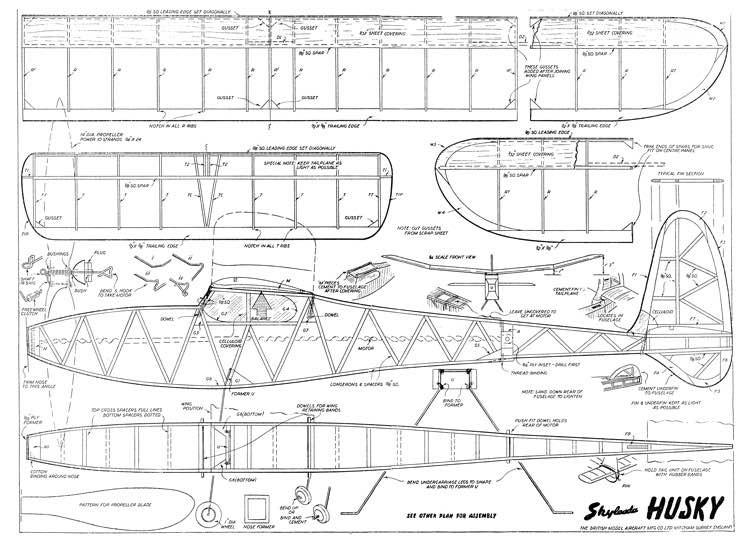 Husky model airplane plan