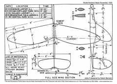 Jakie II model airplane plan