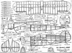 Art Chester's Jeep model airplane plan