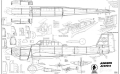 Junkers Ju 87D-5 Stuka model airplane plan