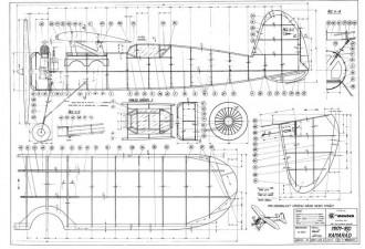 MKM-160 Kamarad model airplane plan