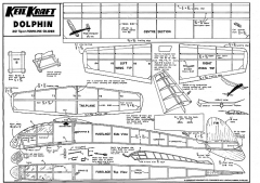 keil kraft dolphin model airplane plan