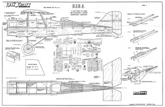 SE5 Keil Kraft RC model airplane plan