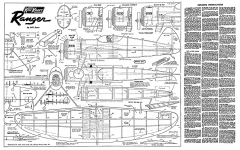 kiel kraft ranger mk1 plans and parts model airplane plan