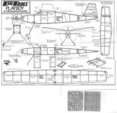 Playboy Keil Kraft (with balsa leaves) model airplane plan