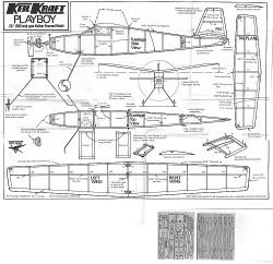 Playboy Keil Kraft (with balsa leaves) model airplane plan