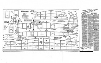Ace Keil Kraft model airplane plan