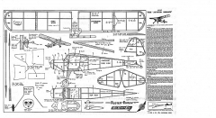 kk auster arrowx model airplane plan