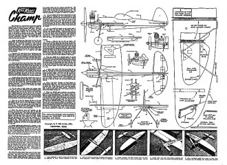 Keil Kraft Champ model airplane plan