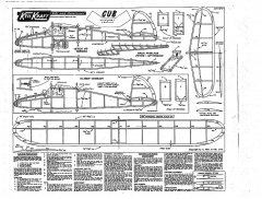 kk cub model airplane plan