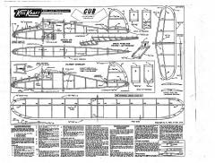 Cub Keil Kraft model airplane plan