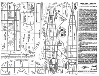 Piper Family Cruiser (with balsa leaves print) model airplane plan