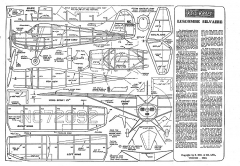 Luscombe Silvare Keil Kraft model airplane plan