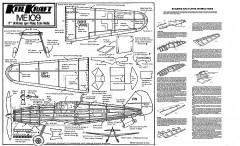 ME109 Keil Kraft. model airplane plan