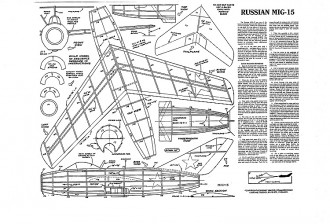 Mig 15 Keil Kraft model airplane plan