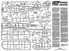 Piper Super Cruiser Keil Kraft. model airplane plan