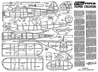 Piper Super Cruiser Keil Kraft. model airplane plan