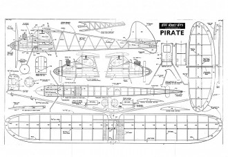 kk pirate inc pw small model airplane plan