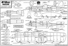Radian Keil Kraft. model airplane plan