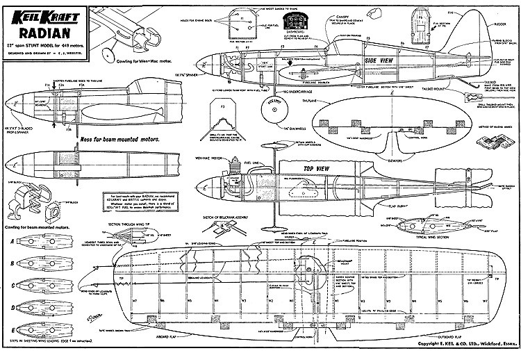 Radian Keil Kraft. model airplane plan