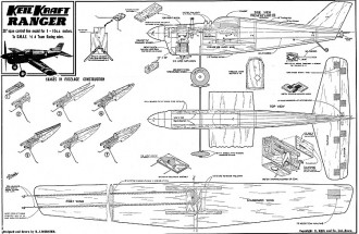 Ranger Keil Kraft model airplane plan