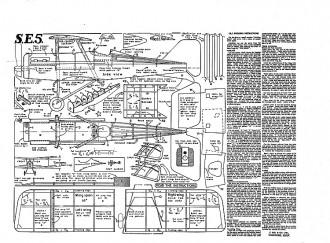 S.E.5 Keil Kraft model airplane plan