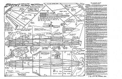 Douglas Skyray Keil Kraft. model airplane plan