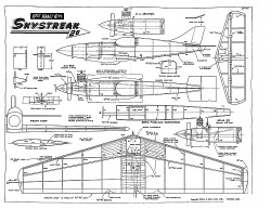 Skystreak Keil Kraft model airplane plan