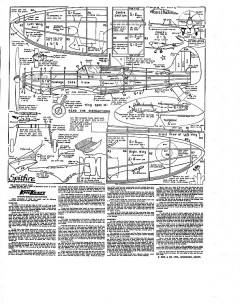 Spitfire Keil Kraft. model airplane plan