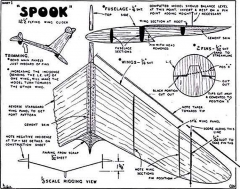 Spook Keil Kraft. model airplane plan