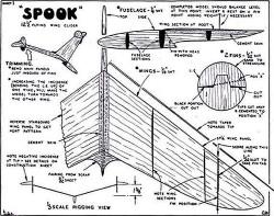 Spook Keil Kraft. model airplane plan