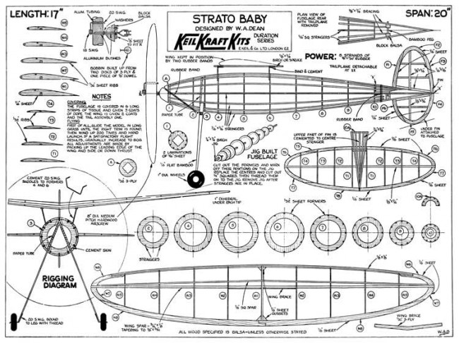 Strato Baby model airplane plan