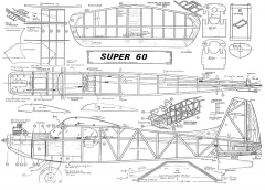kk super 60x model airplane plan