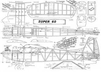 Super 60 Keil Karft. model airplane plan
