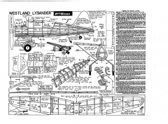 Westland Lysander Keil Kraft. model airplane plan
