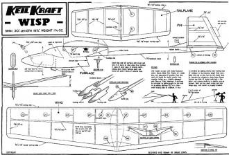 Wisp Keil Kraft. model airplane plan